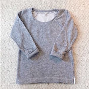 J. Crew grey fitted crewneck sweatshirt XXS